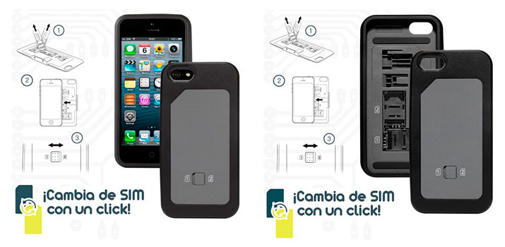 Funda iPhone 5 / 5S doble SIM
