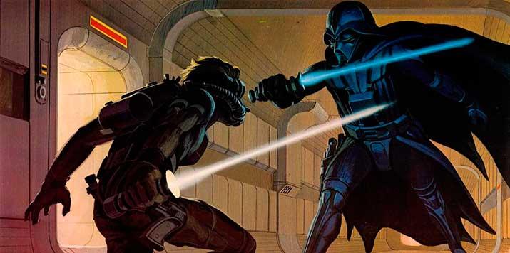 Ilustración del storyboard original de Star Wars