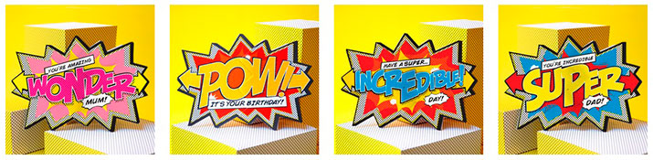 Tarjetas de regalo explosivas Comic Cracker