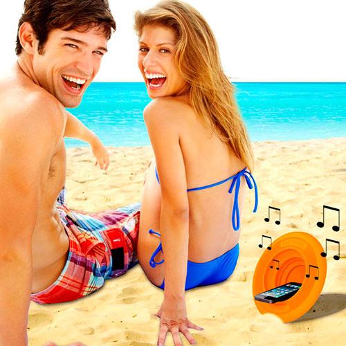 Frisbee / amplificador Fli Tunes para móvil y reproductor MP3