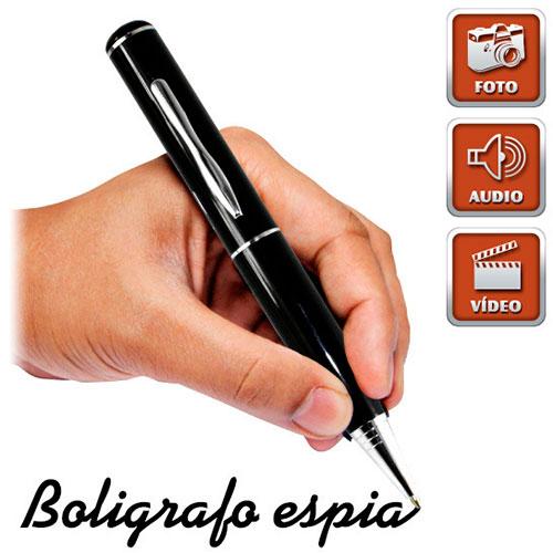 Bolígrafo cámara espía con grabación de audio y vídeo