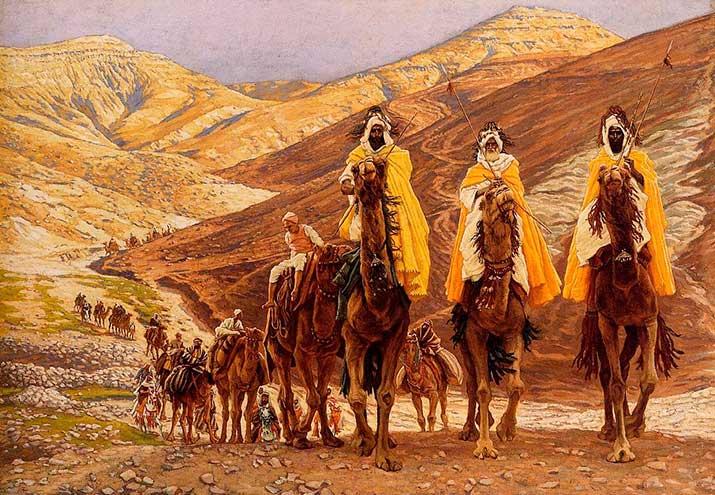 Representación de los Reyes Magos y sus ejércitos