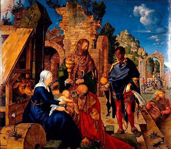 La Adoración de los Reyes Magos de Durero