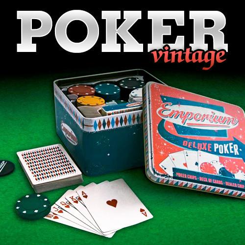 Juego de poker vintage de lujo