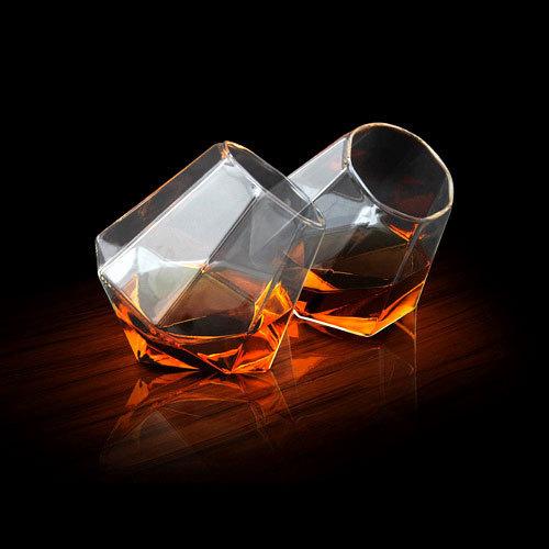 Vasos de cristal diamante