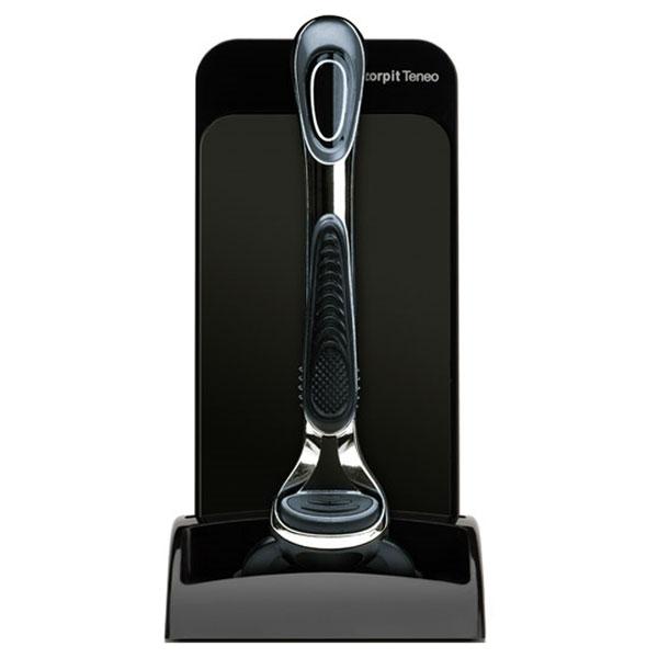 Afilador y limpiador de cuchillas de afeitar