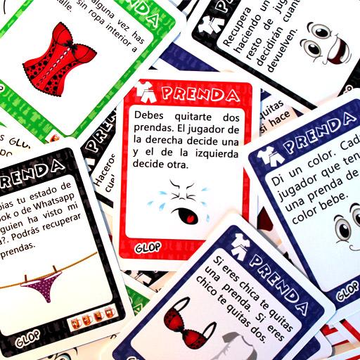 7a2c31132 ✂ Juego para beber Glop Prenda 150 cartas ¡ROPA FUERA!