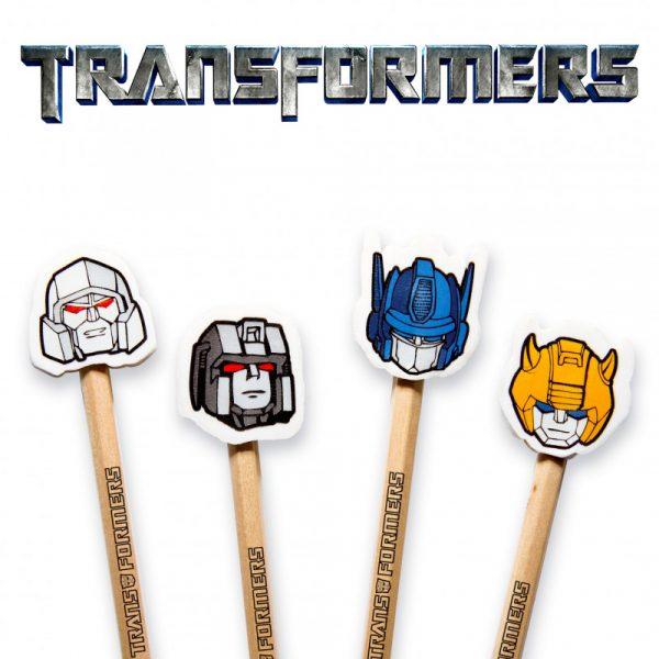 Lápices con goma de borrar Transformers 4 uds.
