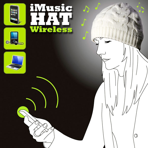 Gorro con auriculares inalámbricos iMusic Wireless