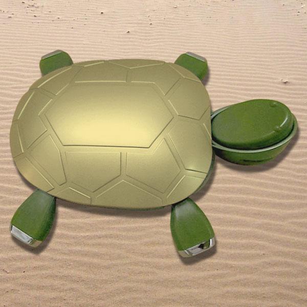 Tortuga Hub 4 puertos USB 2.0 con grapadora ecológica