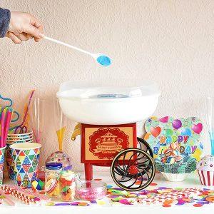 Máquina de hacer algodón de azúcar retro