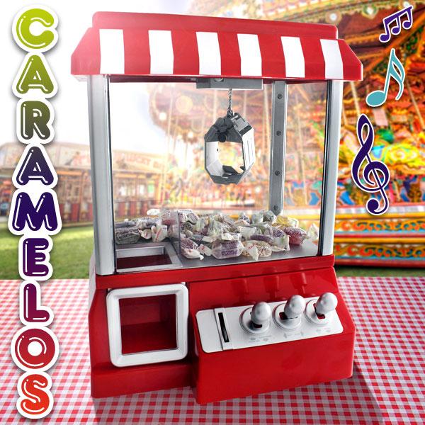Máquina de caramelos retro con música de feria