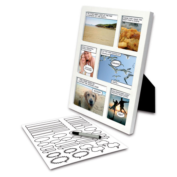 Marco de fotos personalizable diseño cómic