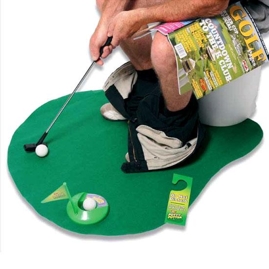 Juego de entretenimiento Toilet Golf para el baño