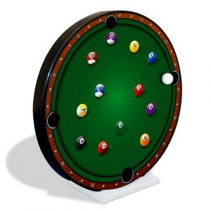 Reloj magnético diseño mesa de billar