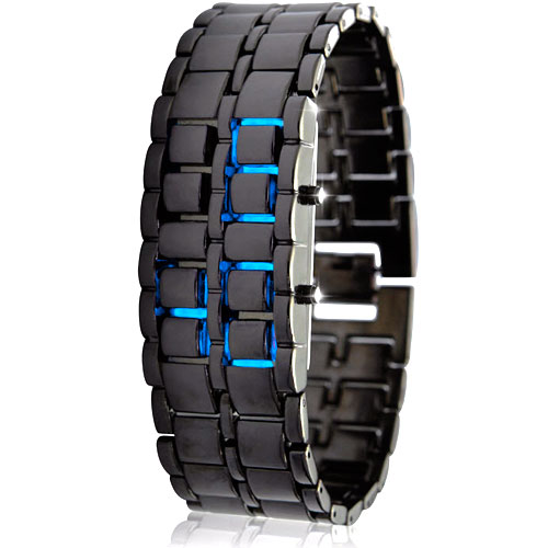 Reloj digital sin esfera con iluminación LED