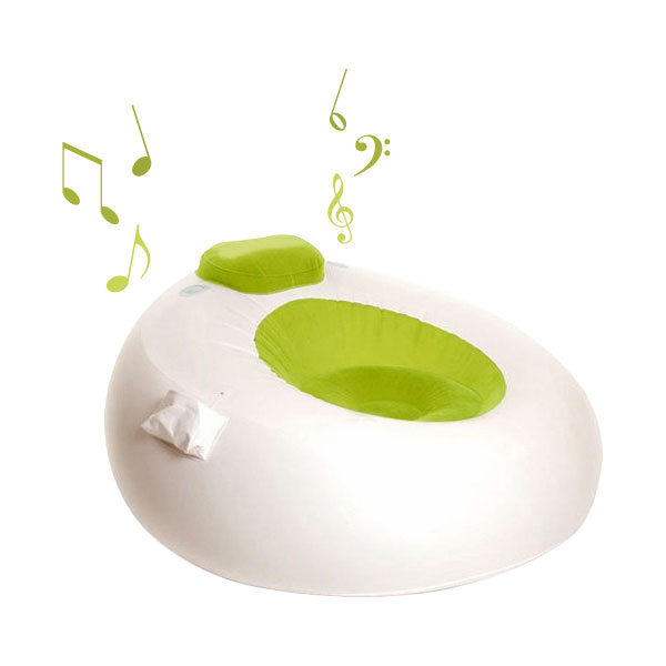 Sillón musical inflable iMusic Chair y bomba de inflado