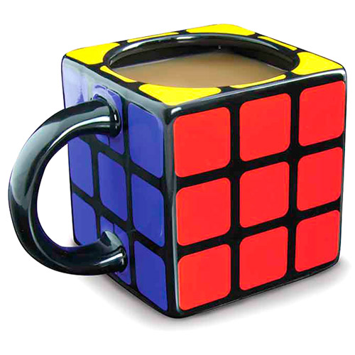 Taza de desayuno cubo de Rubik 3D