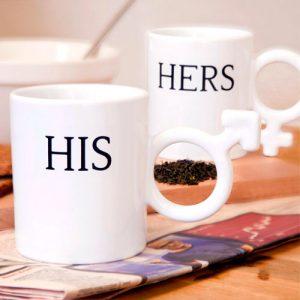 Tazas de desayuno Él & Ella