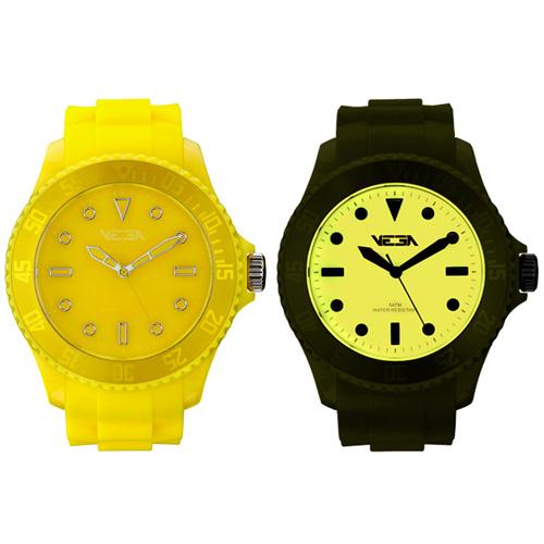 Reloj especial Vega Watch iluminación Neoluxs amarillo