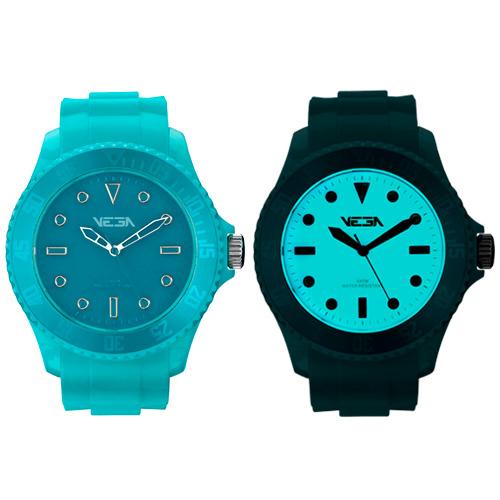 Reloj especial Vega Watch iluminación Neoluxs azul