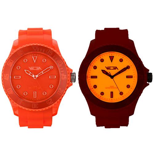 Reloj especial Vega Watch iluminación Neoluxs naranja