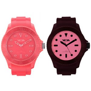 Reloj especial Vega Watch iluminación Neoluxs rosa