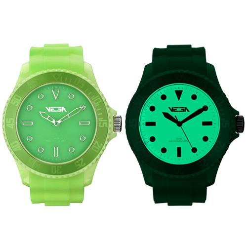 Reloj especial Vega Watch iluminación Neoluxs verde