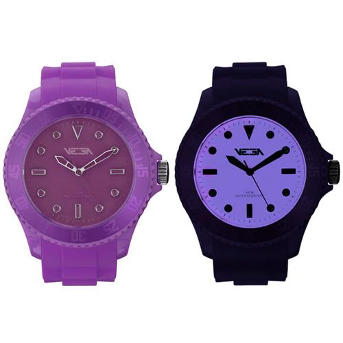 Reloj especial Vega Watch iluminación Neoluxs violeta