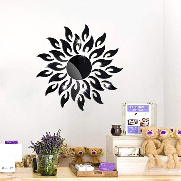Vinilos decorativos de espejo en forma de sol tecniac for Espejos de pared leroy merlin