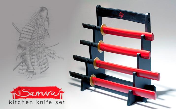 Cuchillos de cocina Katana Samurai