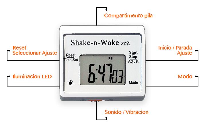 Funciones del despertador para sordos