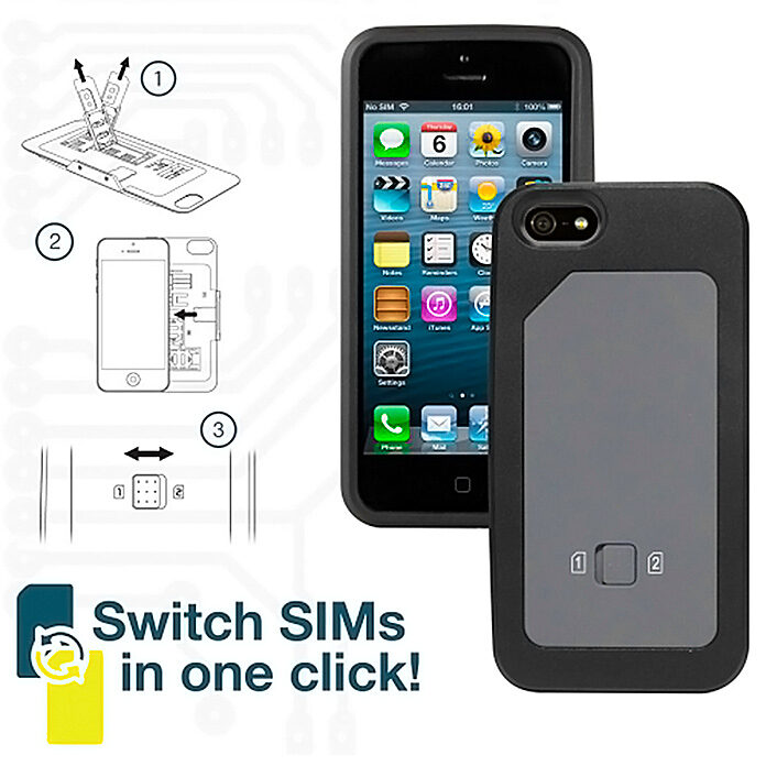 Carcasa doble SIM iPhone 5