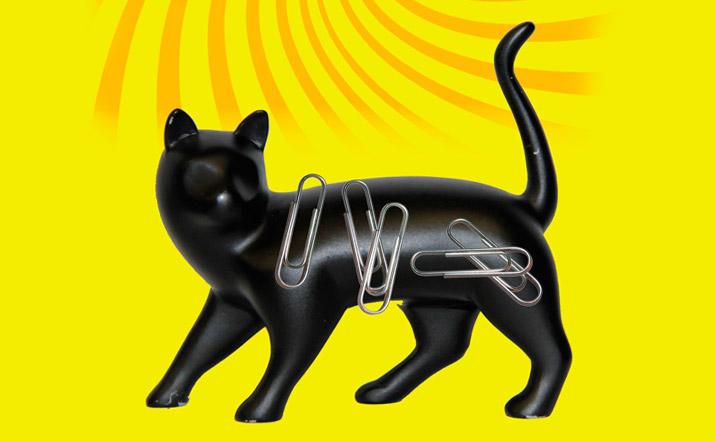 Organizador de escritorio gato magnetico